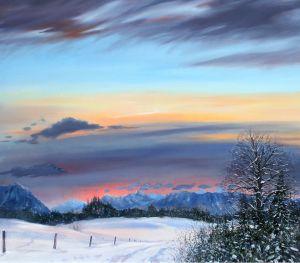 Winterabend, 100 x 100 cm, 2011
