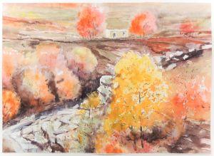 Herbst bei Torbole, 44 x 32 cm, 2008