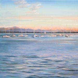 Sommerabend bei Leoni, Öl/Acryl, 60 x 60 cm, 2011