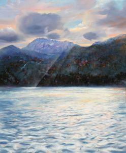 Föhn übern Walchensee, Öl/Acryl, 100 x120 cm, 2008