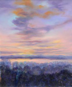 Winterabend (Ammersee), Öl/Acryl, 100 x 120 cm, 2008
