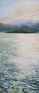 Walchensee, Öl/Acryl, 80 x 140 cm, 2009