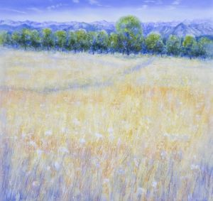 Sommerfeld, Öl/Acryl, 120 x 120 cm, 2007