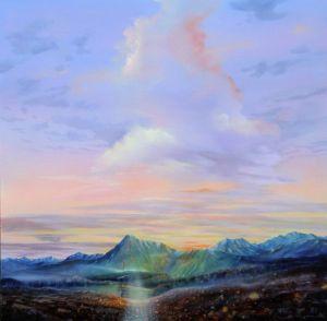 Morgendämmerung, Öl/Acryl, 100 x120 cm, 2008