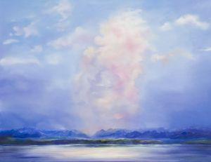 Abendwolke über Starnberg, Öl/Acryl, 100 x120 cm, 2006