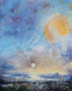 Landschaftsdeva, Öl/Acryl, 80 x 100 cm, 2007