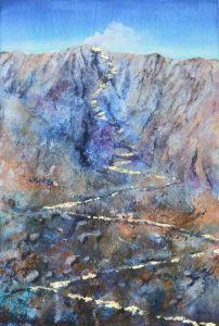 Der Weg, Öl/Blattgold, 80 x 100 cm, 2008