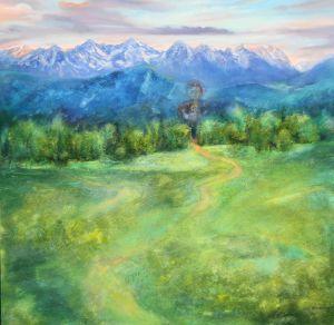 Geegnetes Land, Öl/Acryl, 100 x100 cm, 2011