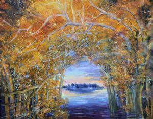 Die Insel, Öl/Acryl, 70 x 85 cm, 2004