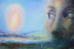 Staunen, Öl/Acryl, 50 x 80 cm, 2007