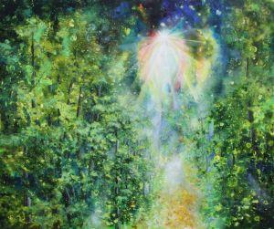 Der gute Geist des Waldes, Öl/Acryl, 100 c 120 cm, 2005