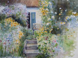 Garten, Aquarell, 30 x 40 cm, 2012