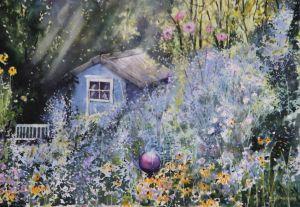 Herbstlicher Garten, Aquarell, 38 x 40 cm, 2012