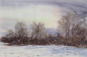 Vor dem Schneefall, Aquarell, 44 x 27 cm, 2010
