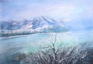 Isar bei Lengries, Aquarell, 48 x 34 cm, 2011