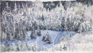 Von oben, Aquarell, 34 x 20 cm, 2010