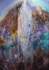 Kristallkönig, Öl/Acryl, 40 x 50 cm, 2006