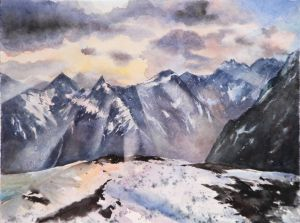 Wallis, Aquarell, 48 x 35 cm, 2010