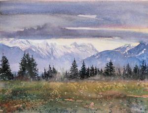 Föhn überm Karwendel, 20 x 30 cm, 2009