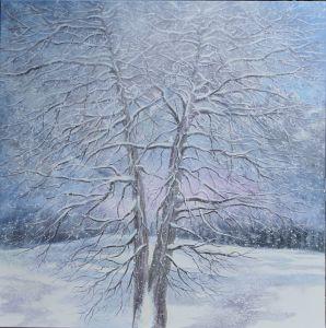 Winterbaum, 100 x 100 cm, 2015