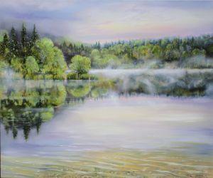Ickinger Stausee, 100 x 120 cm, 2014