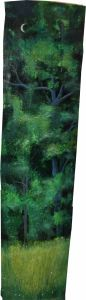 Nachtwald, Öl/Acryl auf Fichtenbrett, naturbelassen, 40 x 160 cm, 2012
