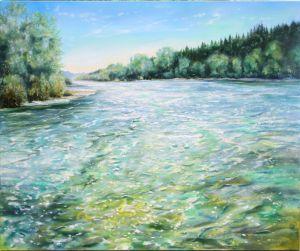 Isar, 100 x 120 cm, 2013